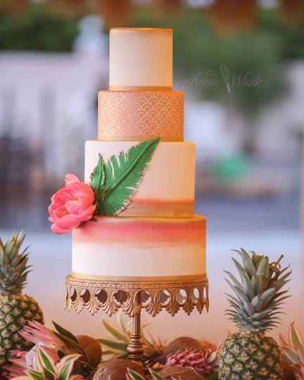 Four layer cake