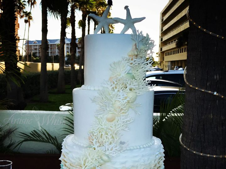 Tmx 1516737574 1d966ffe0a9ec49b 1516737571 43b9ec1027a2e789 1516737518907 19 Fondant With Casc Saint Petersburg, Florida wedding cake