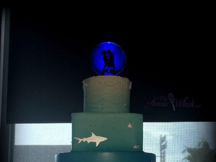 Tmx 1516737640 B5d21ac738b713fe 1516737636 Dcacb42541c79c84 1516737518964 37 Moonlight Over Wa Saint Petersburg, Florida wedding cake