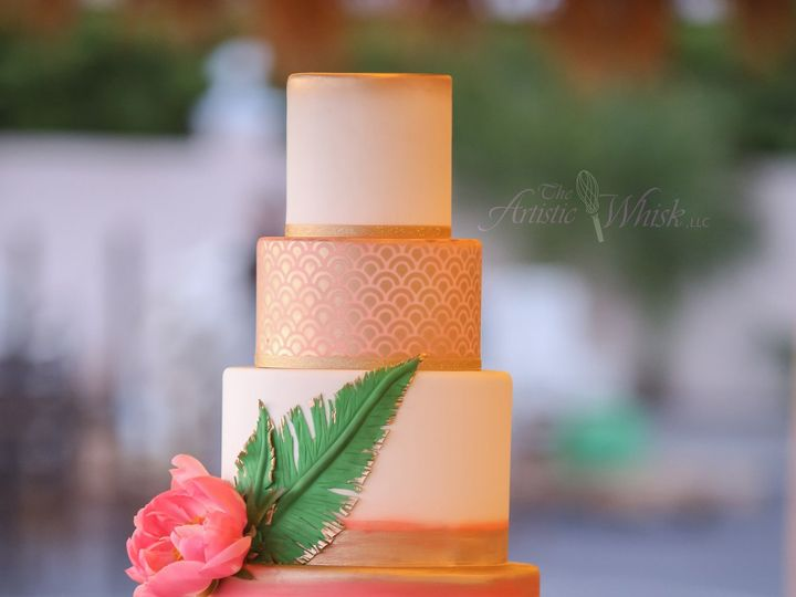 Tmx 1516737642 3c94c1d8fc75cc81 1516737637 7a52561e4e7e17d7 1516737518971 39 Pink Pineapple    Saint Petersburg, Florida wedding cake