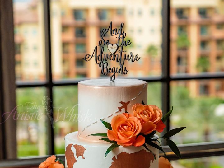 Tmx 1516740069 035009b11532e03d 1516740068 Ee603c4ab18f1ccf 1516740068736 8 And The Adventure  Saint Petersburg, Florida wedding cake