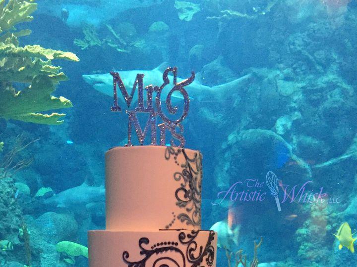 Tmx 1516740087 3a5ac65cdc5f982b 1516740084 3512fa3030eb2173 1516740083451 10 Blue And Purple P Saint Petersburg, Florida wedding cake