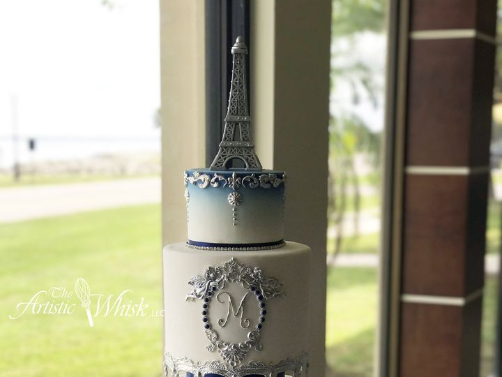 Tmx 1516745477 Ce603838fbcbe3ea 1516745473 C6e47ae8dc7b5a29 1516745460382 13 French Elegance   Saint Petersburg, Florida wedding cake