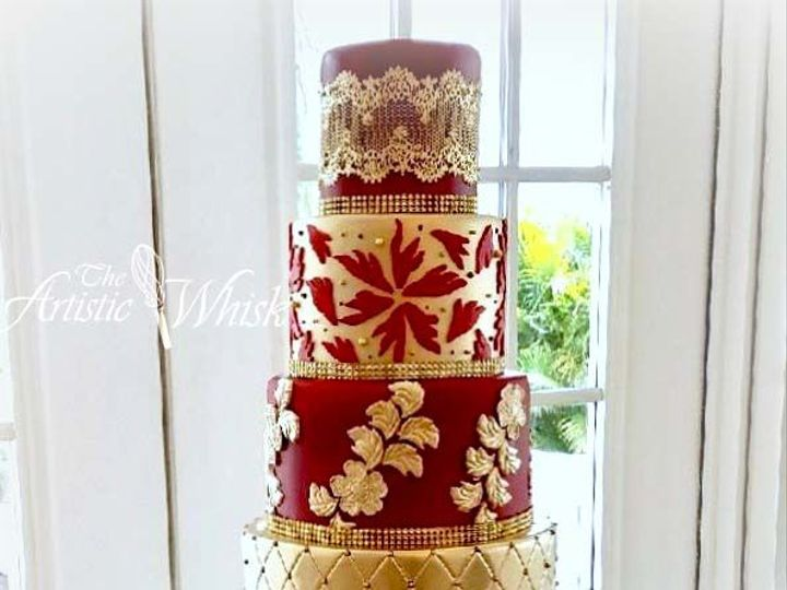 Tmx 1516745534 49002a1071a1335d 1516745533 7b8a9afadd16e2fd 1516745520443 27 Nigerian Wedding  Saint Petersburg, Florida wedding cake