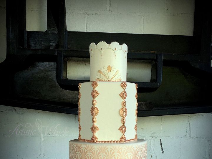 Tmx 1516745535 0065f4af2cd84f5e 1516745533 8ec985ba9810a8a9 1516745520447 29 Rose Gold Art Dec Saint Petersburg, Florida wedding cake