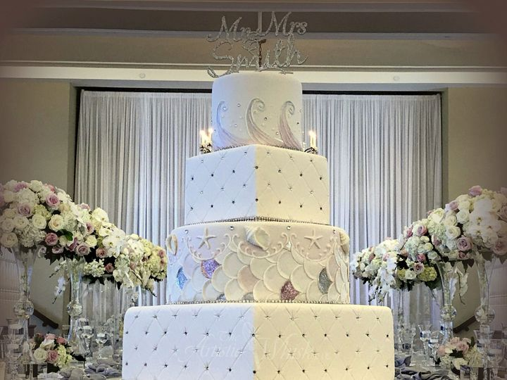 Tmx 1516746305 Bce14c68ef1af1d0 1516746302 6c0502d480e5bd1b 1516746292740 16 Square And Round  Saint Petersburg, Florida wedding cake