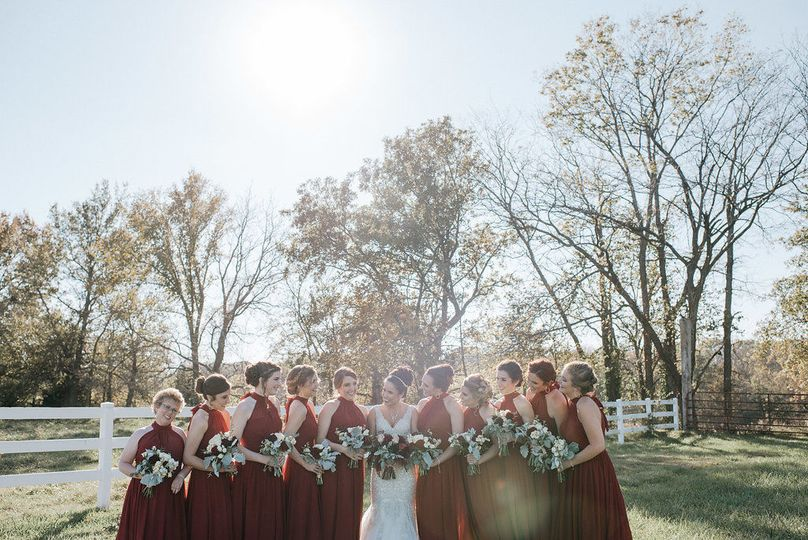 Bride with bridesmaids - Rick Messina photography