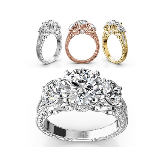 ENR9358Dream engagement ring with elegance and flashy looks. This impressive engagement ring created...