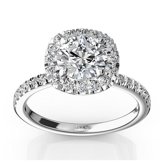 ENR9359Simply pretty! This micro pave engagement ring represents simplicity of love and doesn't take...