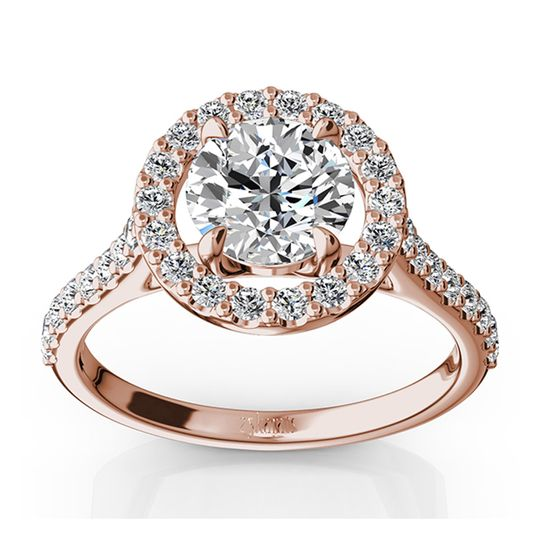 ENR9367Timeless halo engagement ring with micro pave setting will put her heart on fire. This the...