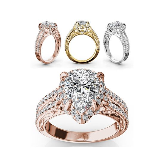 ENR9369Supreme pear shaped halo engagement ring designed to put her heart on fire. This beautiful...