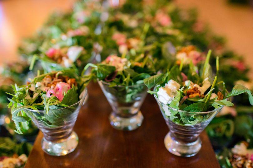 Arugula and Spinach Salad