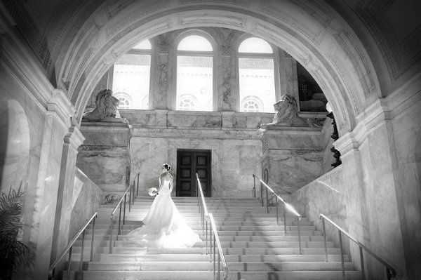 Bride at The Boston Public Library