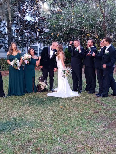 Tall. Garden Club Wedding