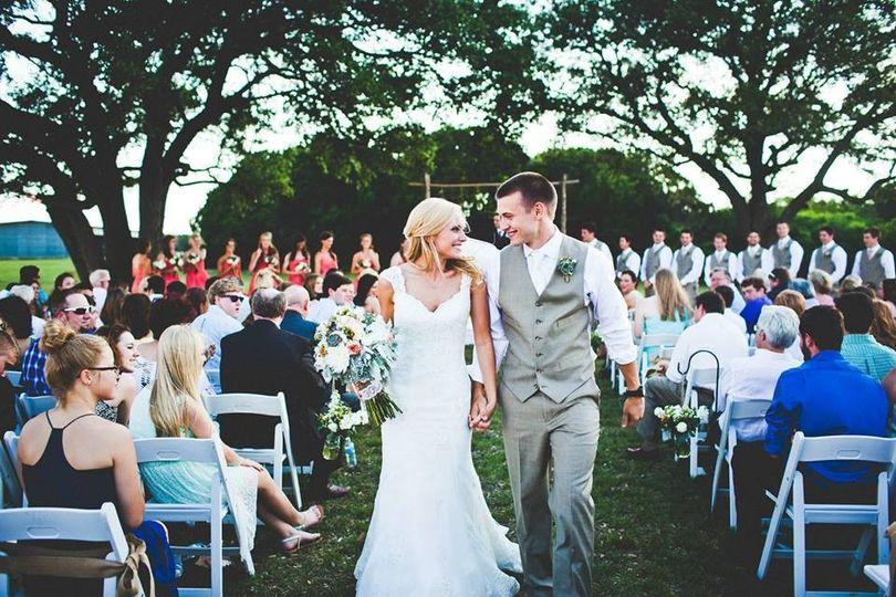 waco wedding recessional color