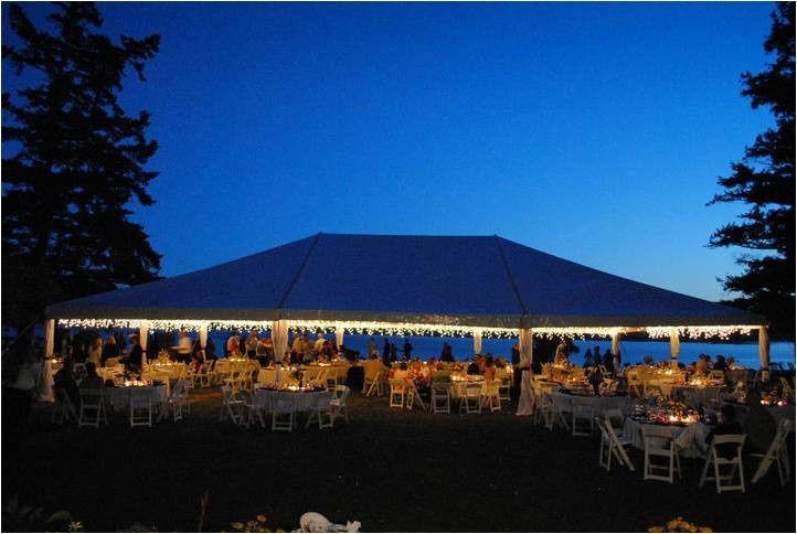 40x60 tent night