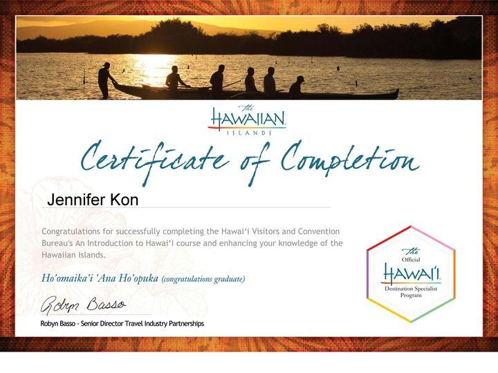 Tmx 1441826733972 Hawaii Certificate Columbus wedding travel