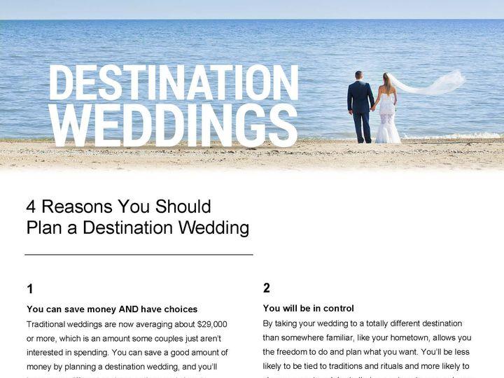 Tmx 1446567387081 Destinationweddings Customizableflyer Columbus wedding travel