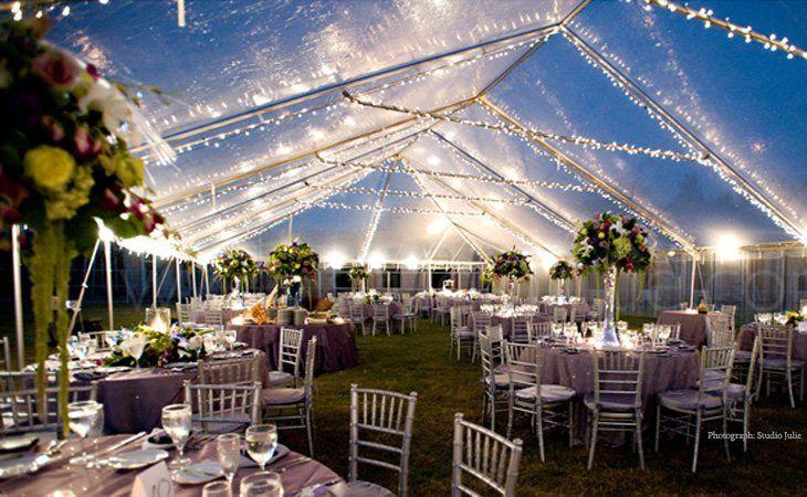 Beautiful evening reception area