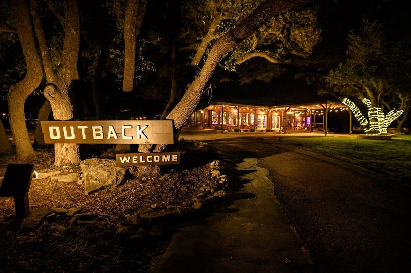 Outback Hall at night