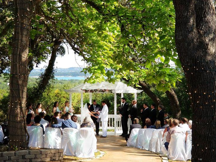 Ceremony Gazebo with lake view