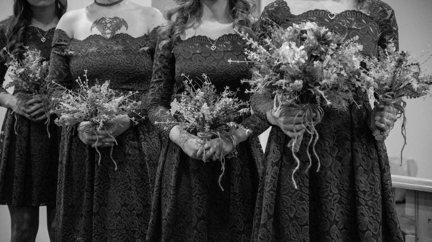 Lavender bouquets & lace