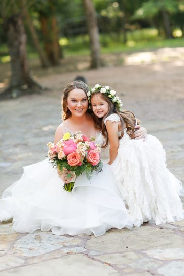 Bride with kid