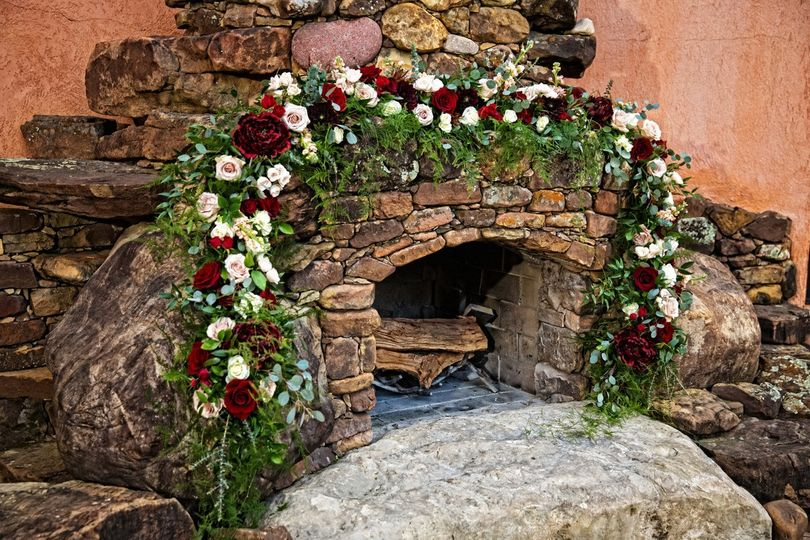 Floral on the Fireplace