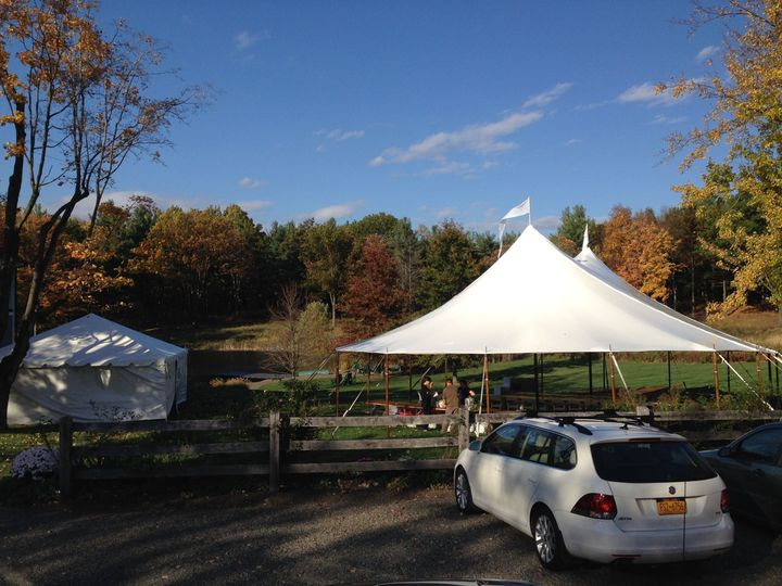Tent for the reception