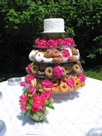 Doughnut tower