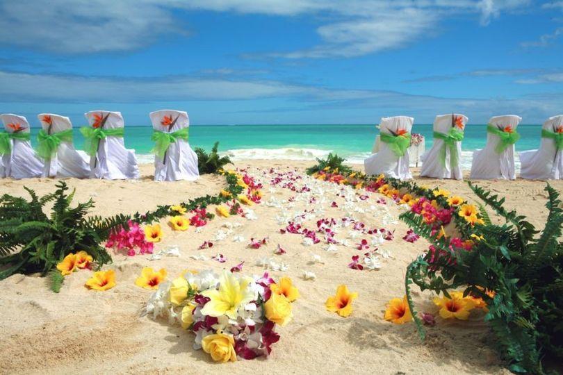 Wedding venue aisle