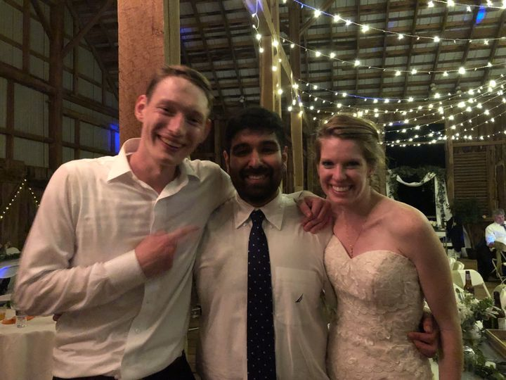 Mike and the happy newlyweds