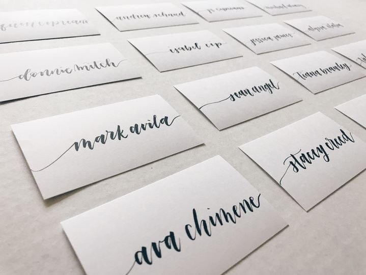 Minimalist Name Cards