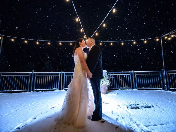Tmx Canyon Deck At Night With Snow 51 1937 Golden, CO wedding venue
