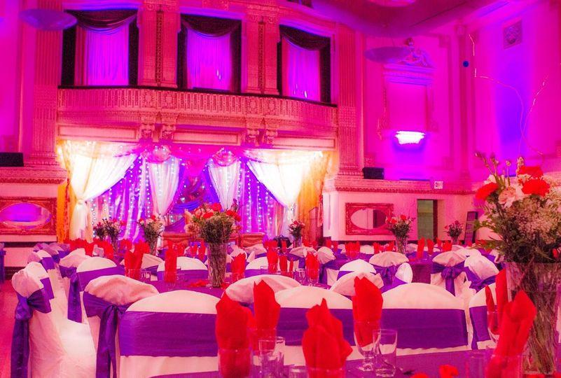 Red & purple setup