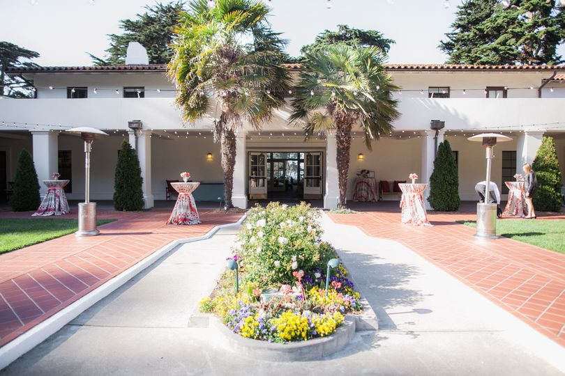 Inside the Golden Gate Club courtyard