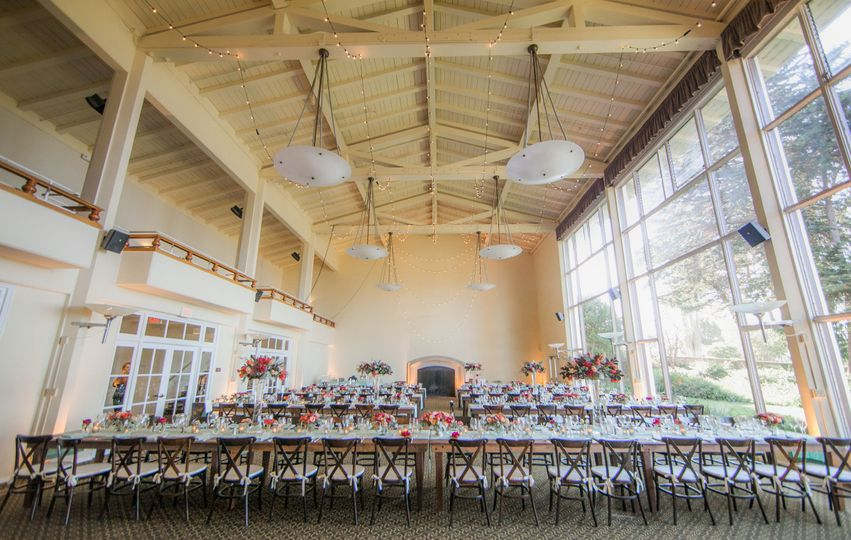Chairs and tables in the Ventana Room