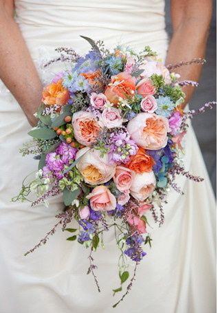 Tmx 1377460629214 Cascading Spring Wedding Bouquet Grand Rapids wedding florist