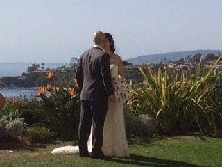 bride kissing