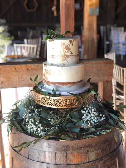 Two tier rustic cake