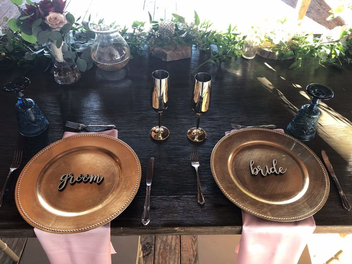 Rustic couple's table