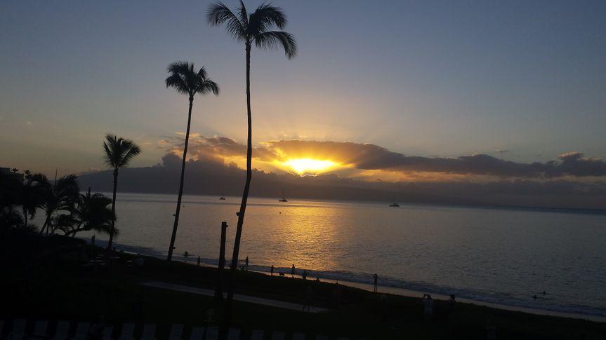last sunset of the trip at royal lahaina 2