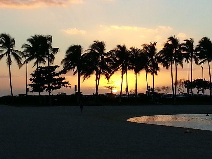 waikiki beach sunset 3