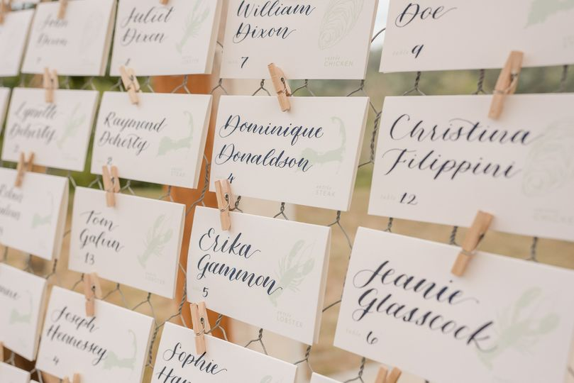 Calligraphy - Escort Cards