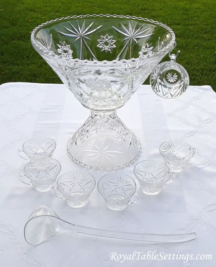 Brilliant glass punch bowls make a show stopper at every event. Visit our website to see more...