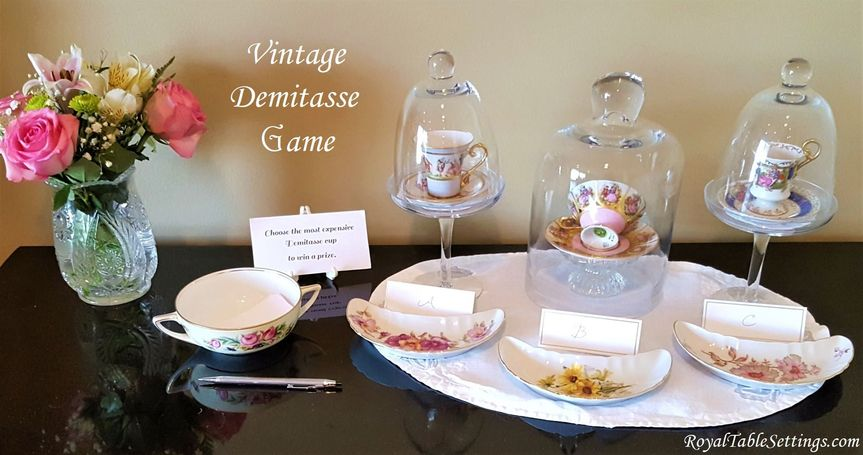 Have some fun at your event with our unique vintage demitasse game. A great conversation piece and...