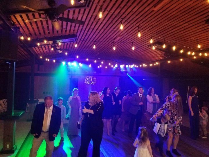Blue dance floor lighitng