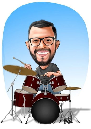 caricature drums