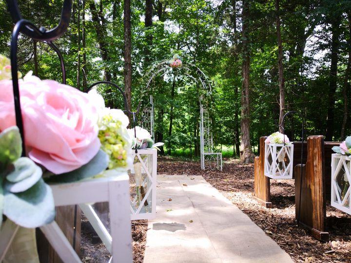Woodland wedding altar