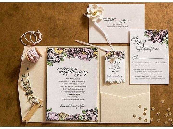 Tmx 1515371048 A17b524ac2841727 1515371047 C71bf71c1212a4b8 1515371046817 15 Feather Ballroom  Marysville wedding invitation